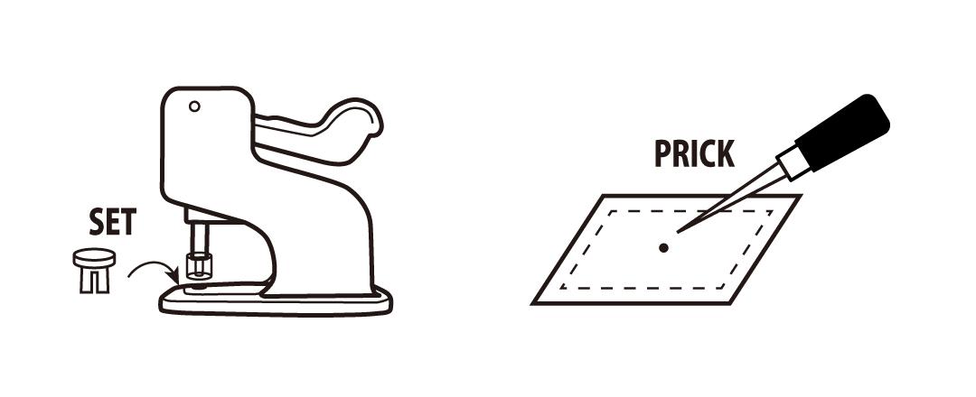 プラスチックスナップの取付け方01  「プロ仕様」の手芸用品 - CHERRY LABEL